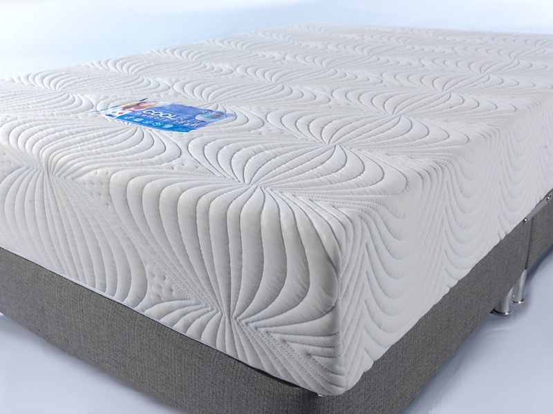 600g deep quilted cover CoolFlex Cool Blue Memory Foam Mattress CoolBlue Elas lava textiles knitted four way stretch zip off removable custom size made to measure 2ft6 3ft 4ft 4ft6 5ft 6ft european single double king small