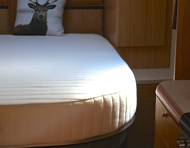 Premium memory foam mattress double rounded corners cut away custom size beds made to Bed and mattress for sale
