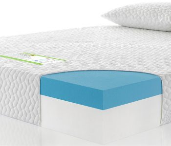 CoolBlue Memory Foam Cross Section With Pillows