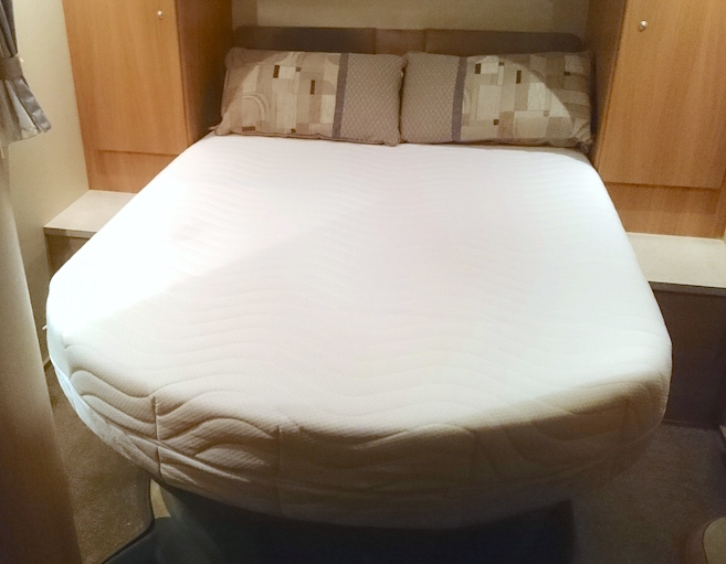 replacement island memory foam mattress for motorhome motor home camper van campervan with rounded corners edges