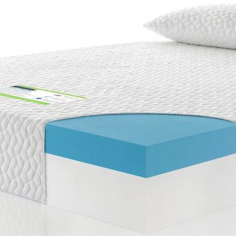 Cool memory foam custom size mattress cross section with pillows image