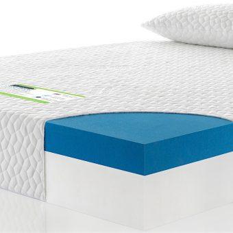 Gel foam custom size mattress cross section with pillows image