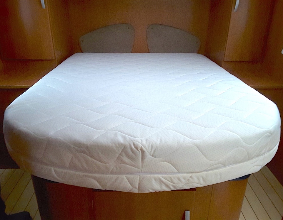 Laygel Foam Mattress Double Rounded Corners Cut Away Custom Size Beds Made To Measure