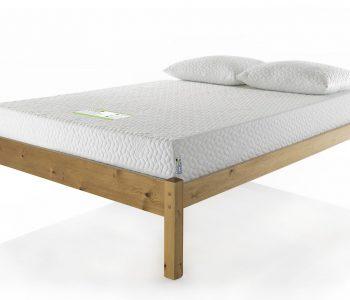 Natural Bed Frame Low - Corner View