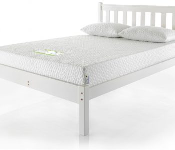 White Painted Bed Frame - With Headboard