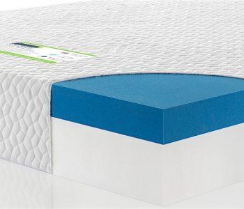 Gel foam custom size mattress cross section close up 1 image