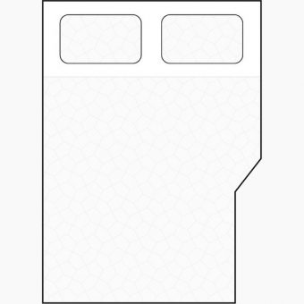 angled diagonal section cut away mattress diagram