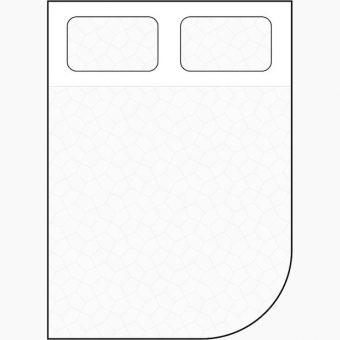 curved corner cut away mattress diagram