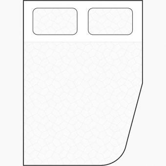 diagonal curved corner cut away mattress diagram