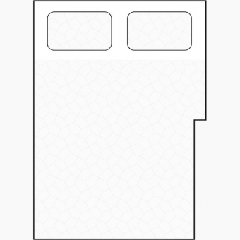 rectangular section cut away mattress diagram