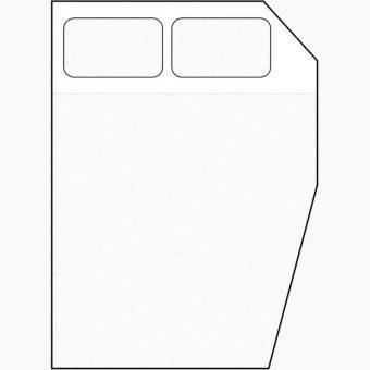 two diagonal corners cut away mattress diagram