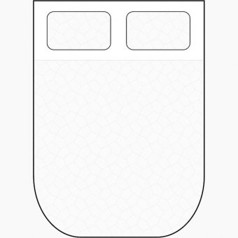 two rounded corners cut away mattress diagram